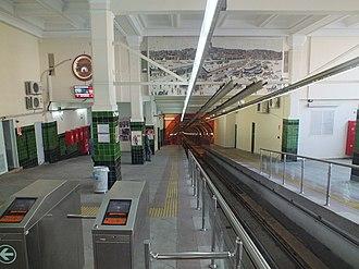 Beyoğlu (Tünel) - Image: Beyoglu Tünel station