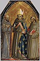 Bicci di Lorenzo - Sts Francis of Assisi, Louis of Toulouse and Anthony of Padua - WGA02161.jpg