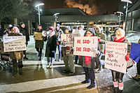 Bill Cosby Protest in Kitchener, Ontario (15604932994).jpg