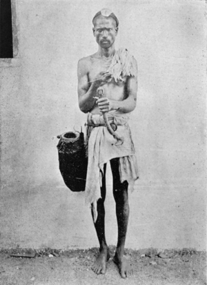 Billava - A Billava toddy tapper, ca. 1909