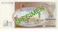 Billete 1 corona estonia - 1992 - Reverso.png