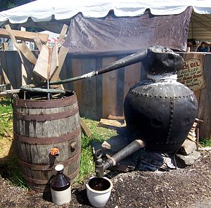 Cuisine of the Pennsylvania Dutch - Working Birch Beer still at the Kutztown Folk Festival
