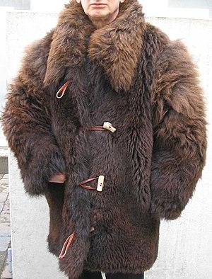 Buffalo coat - Image: Bison jacket front