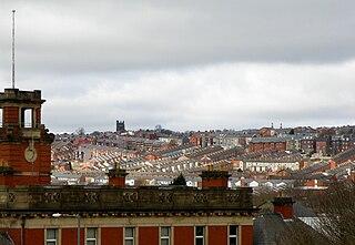 Blackburn Town in Lancashire, England