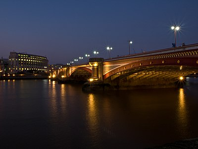 Blackfriars Bridge at dusk, London