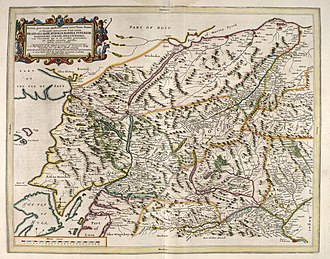 The Rough Bounds - Blaeu's 1654 map, showing the Rough Bounds' nameless separation from other provinces