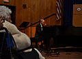 """Blake Billings, at the piano, performs """"In Memory of You"""" April 6, 2013, in Portsmouth, N.H., at a memorial service to honor the 129 crew members who died on the attack submarine USS Thresher (SSN 593) in 1963 130406-N-TN558-074.jpg"""
