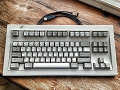 9be1f625ce9 1987 IBM Model M Space Saving Keyboard P/N 1391472 (no numpad) with SDL to  USB adapter