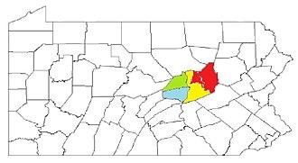 Snyder County, Pennsylvania - Image: Bloomsburg Berwick Sunbury CSA2014