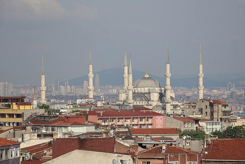 Best Westernホテルから見えるスルタンアフメト・モスク