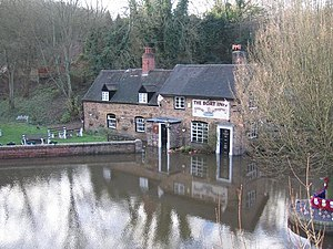 The Tuckies, Jackfield, Shropshire - The Boat Inn, flooded in 2006