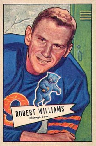 Bob Williams (quarterback) - Williams on a 1952 Bowman football card