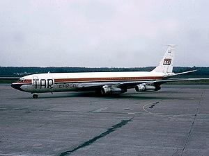 Transporte Aéreo Rioplatense - Boeing 707 LV-MSG at Malpensa Airport, Italy, 1981