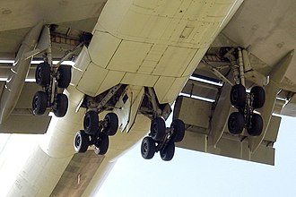 The 747's 16-wheel main landing gear Boeing 747 main landing gear.jpg