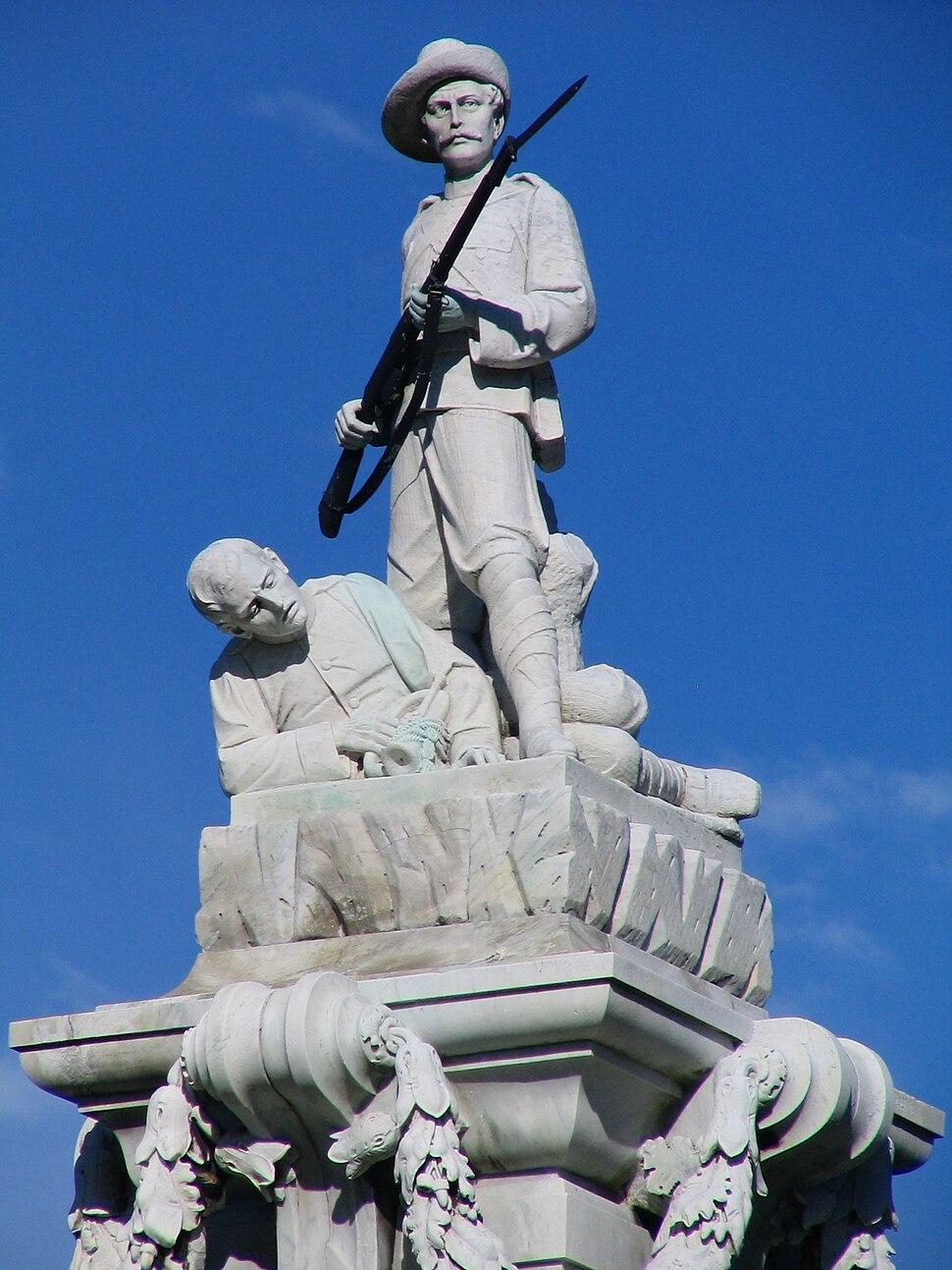 Boer War Memorial, Dunedin, NZ soldiers