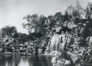 The artificial cliffs and grotto of the Grand Cascade became one of the most popular meeting places in the Bois De Boulogne (1858)