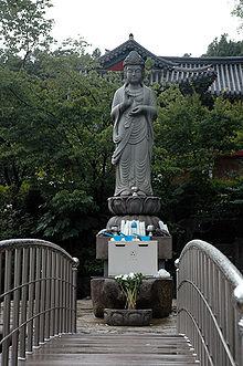 Durante la dinastía de Goryeo, la realización de estatuas de Buda