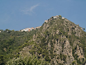 Bonson, Alpes-Maritimes - The village of Bonson, perched on the hillside and seen from the Var valley