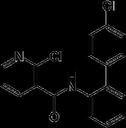 Struktur von Boscalid