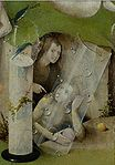 Bosch, Hieronymus - The Garden of Earthly Delights, central panel - Detail Man pointing at a women (lower right).jpg