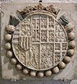 Bottega di francesco laurana, stemma di renato d'angiò e di jeanne de laval.JPG