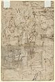 Boy Holding a Sword, Standing near a Table in an Interior; verso- Various Sketches of Figures and Ornamental Forms MET DP855264.jpg