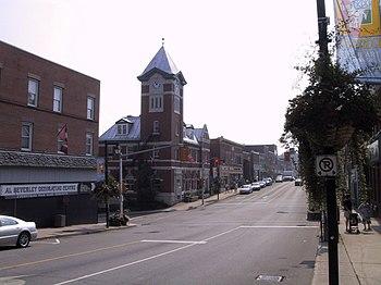 Manitoba Street, high street of Bracebridge, O...