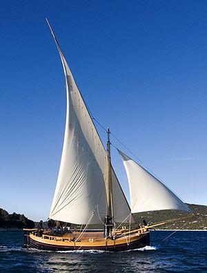 Bracera - Image: Bracera traditional sailboat Croatia