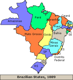 Localiza��o de Brasil
