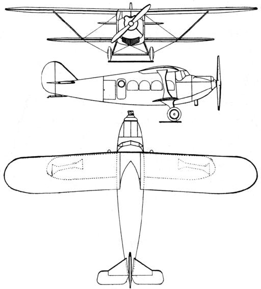 Breguet 280T 3-view Les Ailes July 6,1928