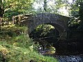 Bridge over brook, tributary of the River Derwent, near Chatsworth - geograph.org.uk - 1430862.jpg