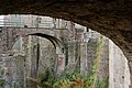 Bridge over moat to Great Tower, Raglan Castle - geograph.org.uk - 1531255.jpg