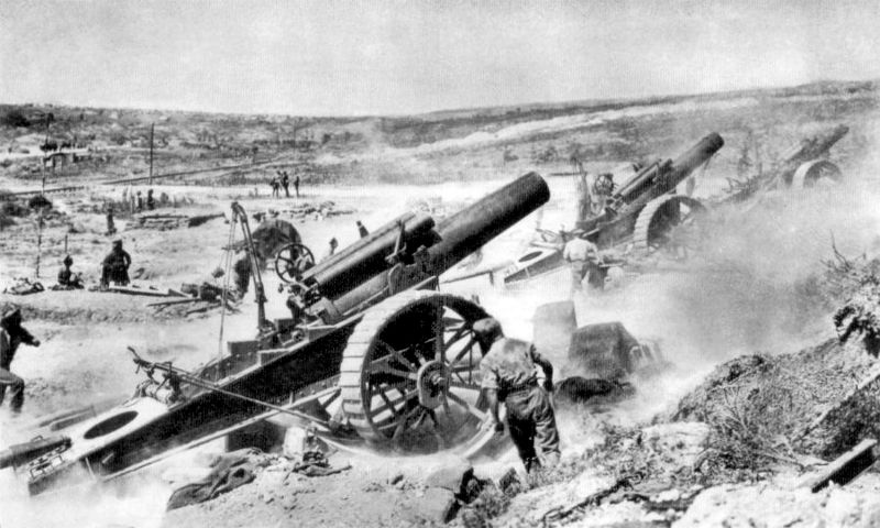 Batalla del Somme 800px-British_39th_Siege_Battery_RGA_Somme_1916