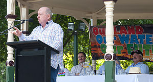 Alan Jones (radio broadcaster) - Jones addressing a coal seam gas protest meeting in Bowral on 19 November 2011.