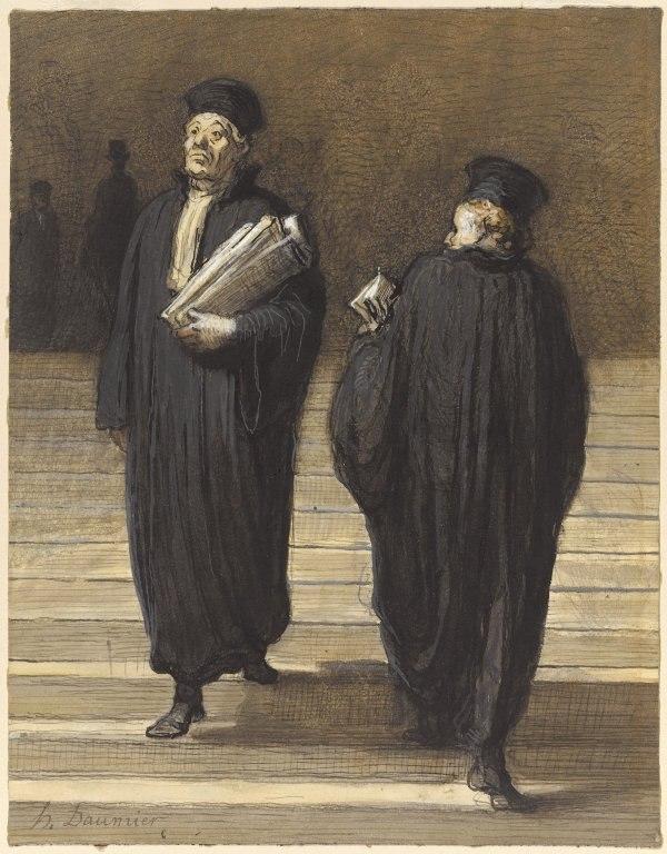 Brooklyn Museum - The Two Colleagues (Lawyers) (Les deux confrères Avocats) - Honoré Daumier
