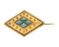 Brosch av guld med turkoser - Hallwylska museet - 110039.tif