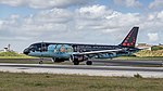 Brussels Airlines A320 just arrived at Lisbon airport (46832255334).jpg