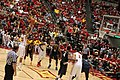 Bryce Dejean-Jones shooting a free throw ISU vs West Virginia basketball 2015-02-14 Hilton Coliseum.jpg