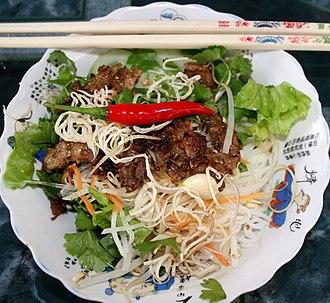 Noodle - A bowl of Bún thịt nướng