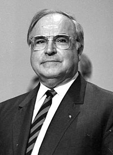 former chancellor of West Germany (1982-1990) and then the united Germany (1990-1998)