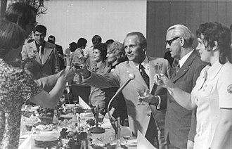 Angelika Bahmann - Bahmann (far right) following the 1972 Summer Olympics in Munich