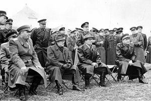 Ivan Yakubovsky - Yakubovsky, far left, with East German politicians and officers, 1960.