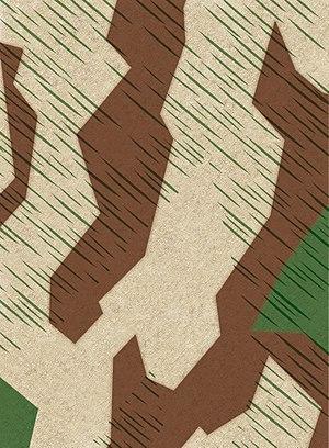 German World War II camouflage patterns - Image: Buntfarbenmuster 31 (Splittertarn) (cropped)