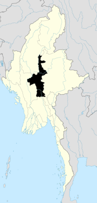 Location of Mandalay Region in Burma