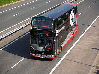 The Witch Way - Wright Eclipse Gemini bodied Volvo B7TL on the M66 motorway in May 2008