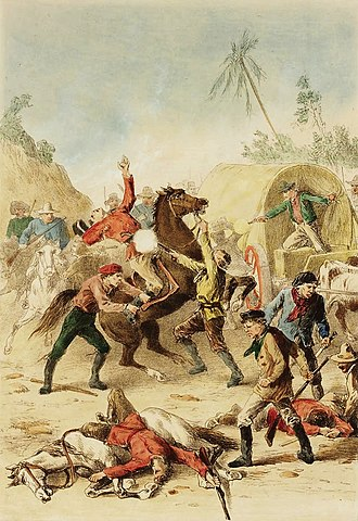 Bushranger - Bushrangers attack mounted policemen guarding a gold escort.
