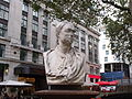Bust of Newton - Leicester Square Gardens, London (4039221607).jpg