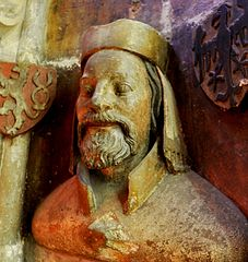 bust of Emperor Charles IV. in the St. Vitus Cathedral in Prague