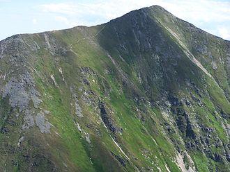 Bystrá (mountain) - Bystrá as seen from the north hiking trail