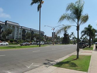 California State Route 75 - Orange Avenue just south of the SR 282 intersection in Coronado